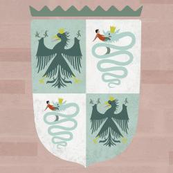 Art Stories illustrazione Stemma nobiliare app Castello Sforzesco
