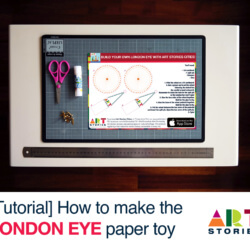 London Eye Paper Toy Tutorial